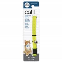 Collier réglable à dégagement rapide Catit en nylon, jaune réfléchissant, 20-33 cm (8-13po)
