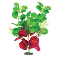 Lysimaque nummulaire Naturals Marina en soie, vert et rouge foncé, grande, 33-35,5cm (13-14po)