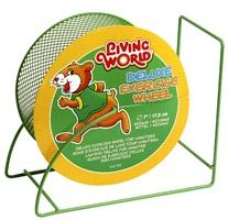 Roue d'exercice de luxe Living World pour hamster, verte, 17,5cm (7po)