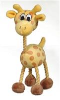 Jouet Puppy Luvz Dogit en peluche avec organe sonore, girafe jaune, 22 cm (9 po)