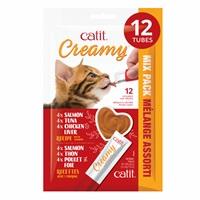 Régals crémeux Catit Creamy, Mélange Assorti, paquet de 12