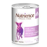 Pâté Nutrience Sans grains pour chiens, Porc, agneau et venaison, 369g (13oz)