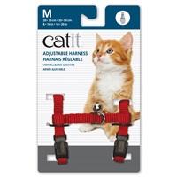 Harnais réglable en nylon Catit, rouge, moyen