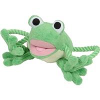 Jouet Puppy Luvz Dogit en peluche avec organe sonore, grenouille verte, 22 cm (9 po)