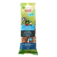 Bâtonnets Living World pour perruches calopsittes, saveur de légumes, 112 g (4 oz), paquet de 2