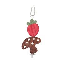 Jouet à gruger Nibblers Living World en bois, fraise et champignon sur tige