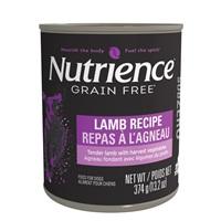 Pâté Nutrience SubZero Sans grains pour chiens, Repas à l'agneau, 374g