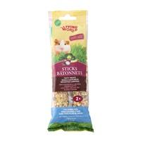 Bâtonnets Living World pour cochons d'Inde, saveur de légumes, 112g (4oz), paquet de2
