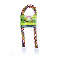 Perchoir Knot-A-Rope Living World en coton, multicolore, diam. 30 mm, long. 90 cm