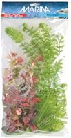 Assortiment de plantes AquaScaper Marina en plastique, 1 deschampsie (12,5cm), 1 ambulia (37,5cm) et 2 ludwigias rouges (20 et 30cm)