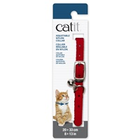 Collier réglable Catit en nylon, rouge, 20-33 cm (8-13 po)