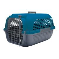Cage Voyageur Dogit pour chiens, base anthracite avec dessus bleu foncé, petite, L. 48,3 x l. 32,6 x H. 28 cm (19 x 12,8 x 11 po)