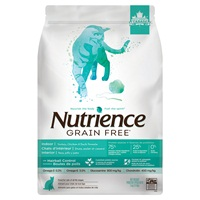 Aliment Nutrience Sans grains pour chats d'intérieur, Dinde, poulet et canard, 5 kg (11 lbs)