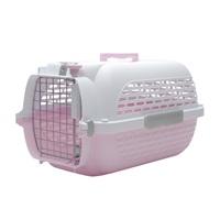 Cage Voyageur Dogit pour chiens, blanc et rose, moyenne, L.56,5xl.37,6xH.30,8cm (22x14,8x12po)