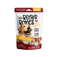Os Better Bones Zeus, arôme de poulet barbecue, torsades enrobées de poulet, paquet de 10