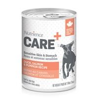 Pâté Nutrience Care Peau et estomac sensibles pour chiens, repas au canard, saumon et citrouille, 369g (13 oz)