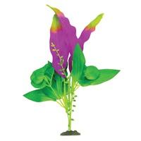 Plante-épée Naturals Marina en soie, indigo et vert, moyenne, 23-25,5cm (9-10po)