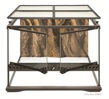 Terrarium en verre Exo Terra, petit, bas, 45 x 45 x 30 cm (18 x 18 x 12 po)