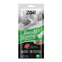 Régals à lécher Smooth & Savory Zoë pour chats, Thon, paquet de 4