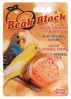 Bloc minéral Living World pour perruches ondulées, en forme d'orange, orange