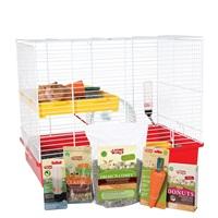 Cage équipée de luxe Living World pour hamster, L. 46 x l. 29 x H. 37 cm (18 x 11,4 x 14,5 po)