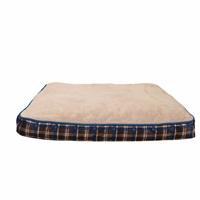 Matelas-lit DreamWell Dogit, rectangle, tartan bleu, 91 x 71 x 12,7 cm (36 x 28 x 5 po)