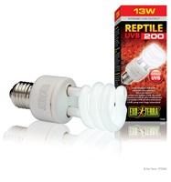 Ampoule fluocompacte Reptile UVB 200 Exo Terra à rendement élevé de rayons UVB, 13 W