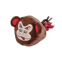 Jouet Stuffies Dogit pour chiens, grosse tête en peluche, singe, 23cm (9po)