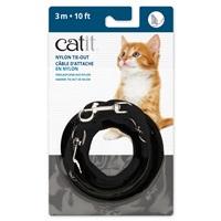 Câble d'attache en nylon Catit, noir, 3m (10pi)