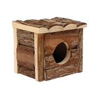 Cabane Tree House Living World en rondins de vrai bois, petite, L. 15,5 x l. 15,5 x H. 15 cm (6 x 6 x 5,75 po)