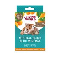 Bloc minéral Living World pour petits animaux, arôme d'orange, grand, 190 g (6,7 oz)