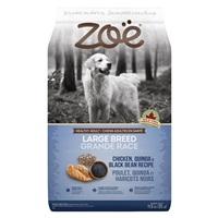 Aliment Zoë pour chiens adultes de grande race, Poulet, quinoa et haricots noirs, 11,5 kg