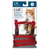 Ensemble harnais réglable et laisse en nylon Catit, rouge, grand