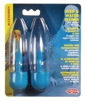 Réservoirs à eau et à graines Living World, bleus, paquet de 2