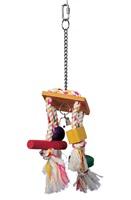 Corde carillon Junglewood Living World avec clochettes, cylindre, bloc et boule
