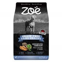Aliment Zoë Sans grains pour chiens, Poulet avec pois et quinoa, 2 kg (4,4 lbs)
