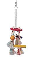 Corde carillon Junglewood Living World avec plaque ronde, clochette, bloc, cylindre et cheville