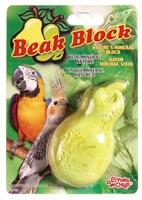 Bloc minéral Living World pour perruches calopsittes, en forme de poire, jaune