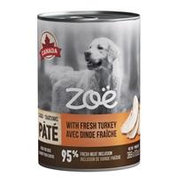 Pâté Zoë avec dinde fraîche pour chiens, 369 g (13 oz)