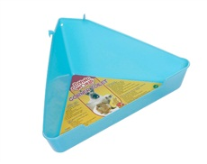 Coin-toilettes Living World pour hamsters, bleu-vert, grand