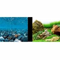 Arrière-plan réversible Marina, rivière rocheuse/jardin japonais, H. 30,5cm x L. 7,6m (12po x 25pi)