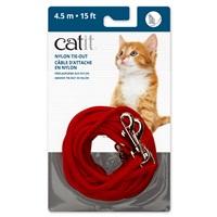Câble d'attache en nylon Catit, rouge, 4,5m (15pi)