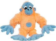 Jouet Puppy Luvz Dogit en peluche avec organe sonore, gorille orange et bleu, 22 cm (9 po)