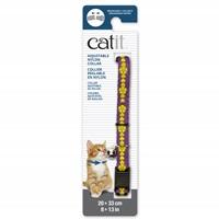 Collier réglable à dégagement rapide Catit en nylon, violet avec fleurs jaunes, 20-33 cm (8-13 po)