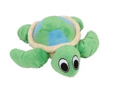 Jouet Puppy Luvz Dogit en peluche avec organe sonore, tortue verte, 22 cm (9 po)