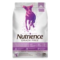 Aliment Nutrience Sans grains pour chiens, Porc, agneau et canard, 2,5 kg (5,5 lbs)