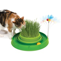 Circuit 3 en 1 avec balle et jardinière d'herbe Catit Play, vert, 36cm (14po)