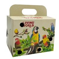 Boîte de transport Living World pour oiseaux, 10 x 10 x 13 cm (4 x 4 x 5 po)