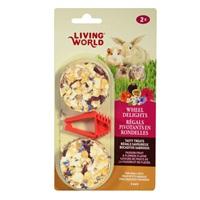 Régals pivotants Living World en rondelles, saveur de fruits de la passion et de fleurs, paquet de2