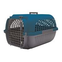 Cage Voyageur Dogit pour chiens, base anthracite avec dessus bleu foncé, moyenne, L.56,5xl.37,6xH.30,8cm (22x14,8x12po)